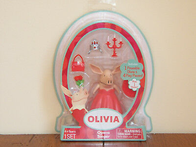 Olivia the Pig Poseable Action Figure Opera Singer Piglet Doll Playset Toy *NEW* Olivia Pig Doll