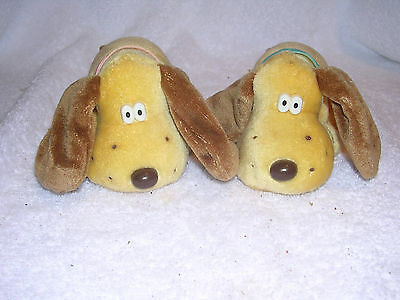 Kennel Twins Dogs Brown with Floppy Ears Pink and Blue Ribbons by Mattel / Tara (Dogs With Floppy Ears)