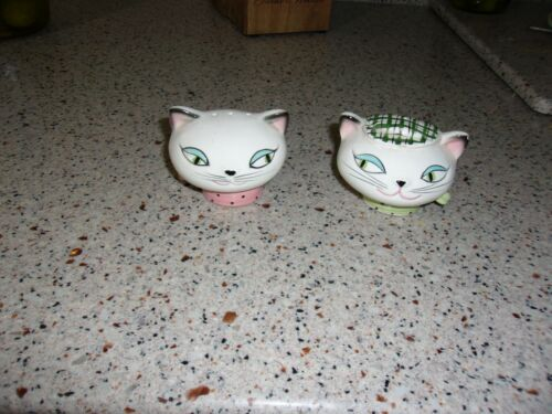 VTG Holt Howard Japan Cozy Kitten Cat Head Salt & Pepper Shakers S&P