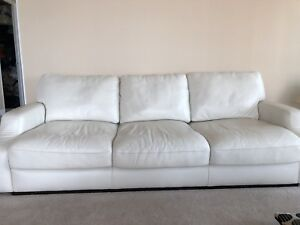 White leather couch - really comfortable