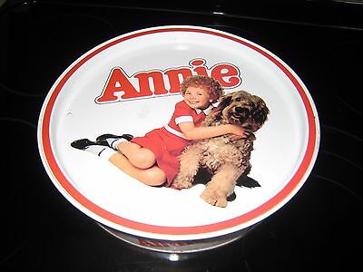 ANNIE 1982 COLUMBIA PICTURES INDUSTRIES ROUND COOKIE TIN BY GUILDCRAFT@@