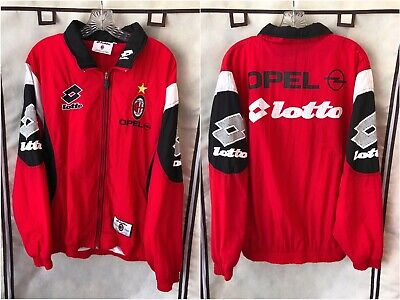 AC Milan 1997/98 Soccer Track Jacket XL Lotto Serie A