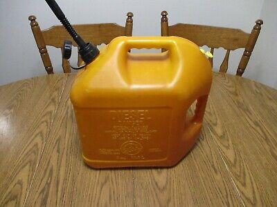 Vintage Plastic Blitz Plastic 5 Gallon Diesel Gas Can Vented Style Fuel Jug