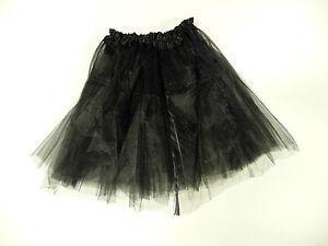 Womens Ladies Girls Hen Night Black Christmas Tutu Net Skirt Fancy Dress Party
