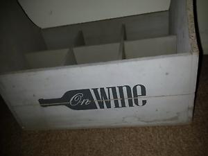 Wooden Wine Bottle Carrier. (Wedding) Loganlea Logan Area Preview