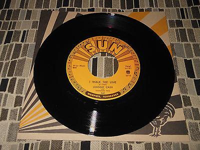 Johnny Cash  I Walk The Line   7   45Rpm  Third Man Records  Sun Records
