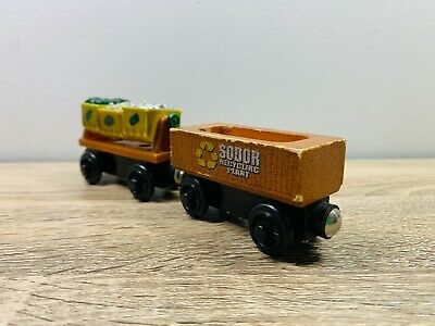 Recycling Cargo Car x2 Thomas the Tank Engine & Friends Wooden Railway Trains