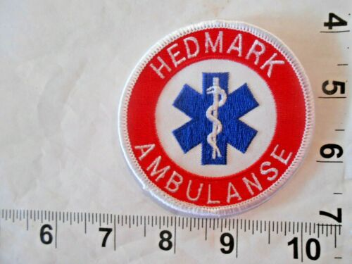 Vintage Hedmark Ambulanse Patch with FREE shipping