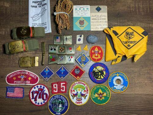 Boy Scout, Cub Scout Webelos Patches, Loops, Belts, Buckles, Pins, Slide BSA LOT