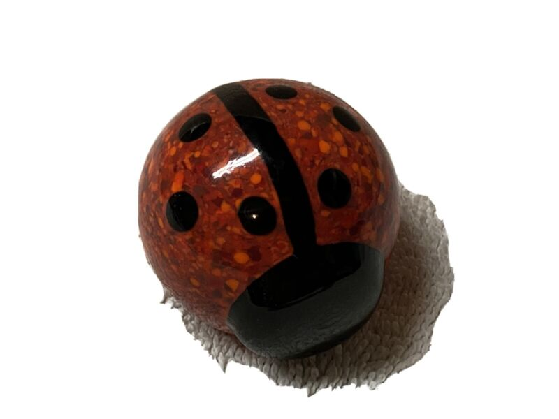 """Glass Lady Bug - Red & Black 2"""" in Length"""