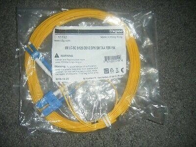 Duplex Single Mode Patch - Fiber Patch Cord 20 ft 6 Meter LC/LC Duplex Single Mode 9/125 Fiber Cable - 275