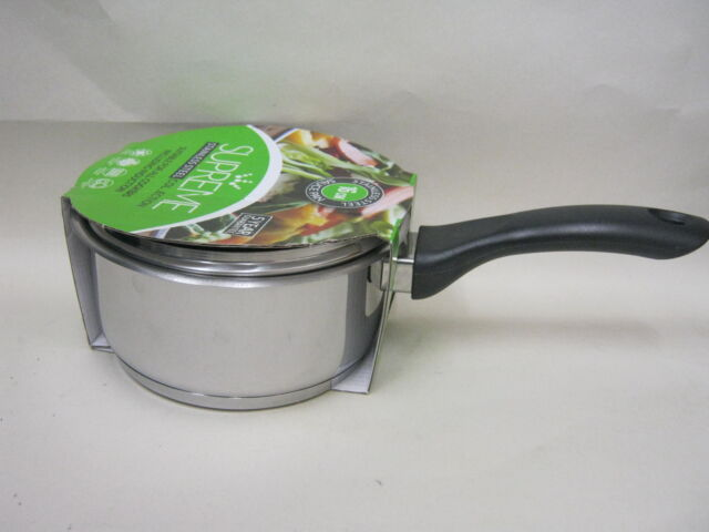 New Pendeford Supreme Induction Stainless Steel Sauce Pan And Lid 16cm