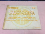 Genuine Yamaha SX250SE/SX400SE,XS250SG/XS400SG Service Manual Pallarenda Townsville City Preview
