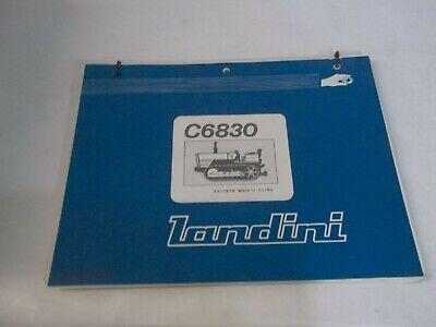 Landini C6830 Dozercrawler Parts Book