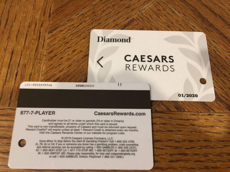 CAESARS TOTAL REWARDS DIAMOND SLOT CARD EXPIRES JANUARY 2020