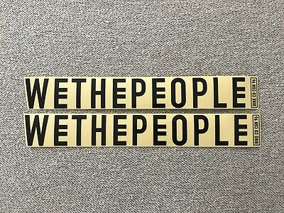 """NEW 2 x We The People BMX Frame Stickers 10.5"""" Clear & Black Sticker Decals WTP"""