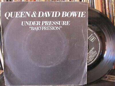 """Queen & David Bowie – Under Pressure Vinyl 7"""" Single 1985 Spain, usado segunda mano  Ribeira"""