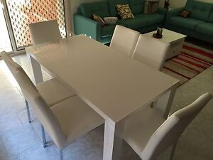 Dining table and chairs seven piece set Abbotsbury Fairfield Area Preview