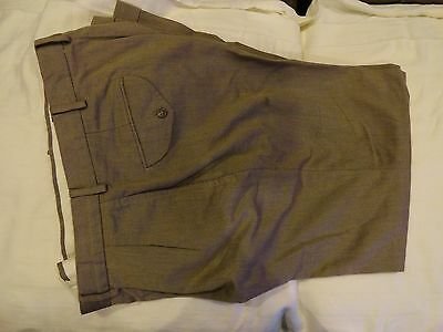 POLO by Ralph Lauren Men's Light Brown Cotton Pleated &Cuffed Pants 32-33 x 28.5