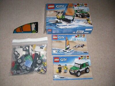 Used Lego City 4X4 with Catamaran Complete, 60149, Inc Box & Manuals