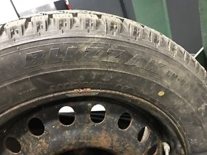 Bridgestone Blizzak 225/60/R17 LM-50 Runflat on wheels
