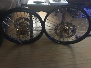 RMZ 2007 250 new rims & Typhoon brake rotors