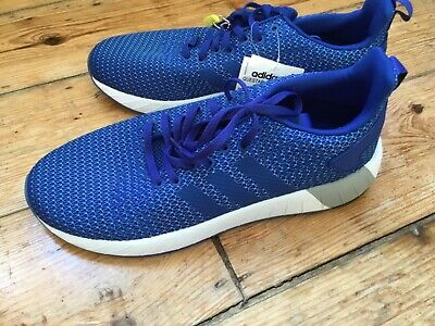 Adidas Questar BYD CloudFoam mens trainers Blue & White UK 8.5  EUR 42 2/3  BNWT