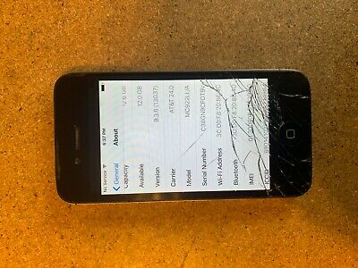 Apple iPhone 4s - 16GB - Black (AT&T) A1387 (CDMA + GSM) - WORKS GREAT*