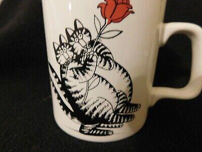 TANGO CAT B Kliban Cat Mug Kiln Craft Staffordshire Potteries Signed Vintage