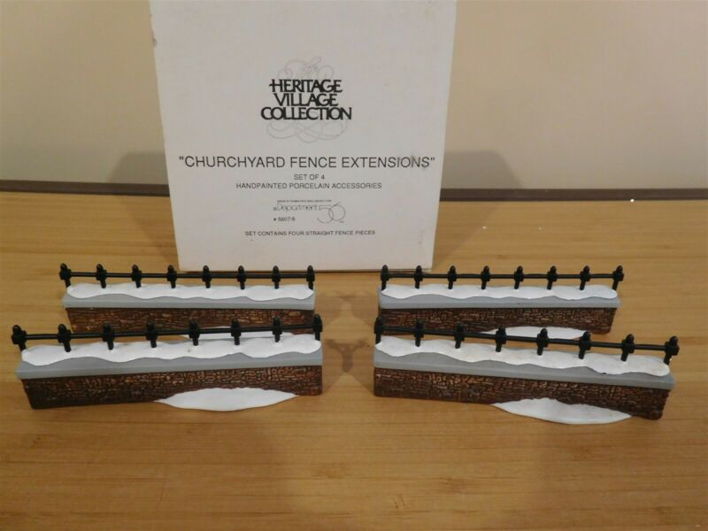 Dept 56 Dickens Village - Churchyard Fence Extensions - Free Shipping