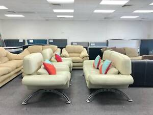 TODAY DELIVERY GENUINE LEATHER 2X1X1 Sofas set