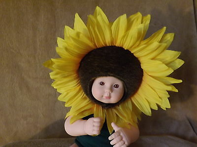 anne geddes collectors sunflower doll 15 inch brown eyes hard body doll cute