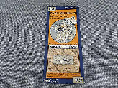 Card Michelin No 64 Angers-Orleans 1931/Collector Bibendum Vintage