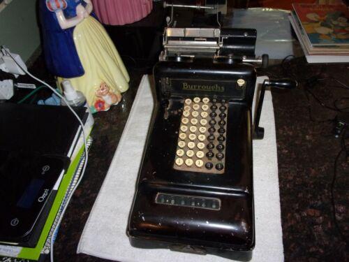 Rare Old Vintage Original Burroughs Adding Machine Great Condition Circa 1900