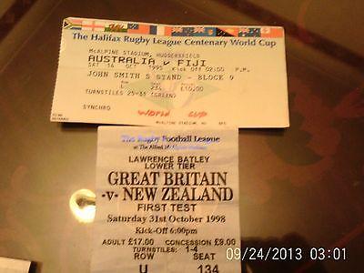 rugby league tickets @ huddersfield australia v fiji & gt britain v new zealand