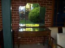 QUEEN ANNE STYLE DRESSING TABLE w/winged side mirrors,2 drawers Colonel Light Gardens Mitcham Area Preview