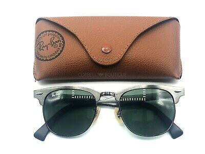 Ray-Ban Clubmaster Aluminum Sunglasses Gray Frame / Green Lenses RB3507 (Aluminum Clubmaster Glasses)