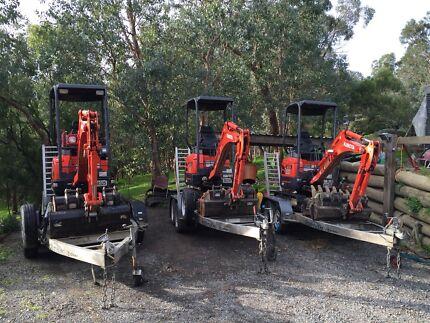 Excavator hire $220