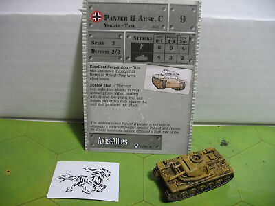 Axis & Allies Base Set Panzer II Ausf. C with card 31/48 Axis Allies Base Set