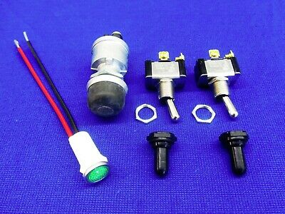 Lot Fits Lincoln Welder Sa 200 Toggle Switch W Apm Boots Green Oil Light
