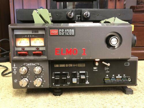 Elmo GS-1200 Super 8mm Stereo Sound Movie Projector