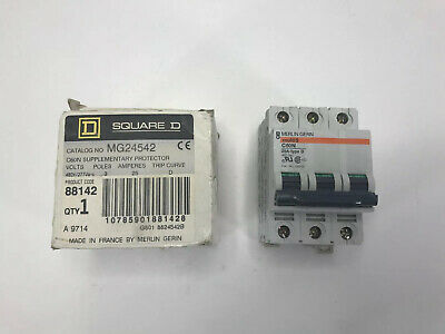 Square D Mg24542 Supplementary Protector C60n 25a Type D 480y277va New In Box