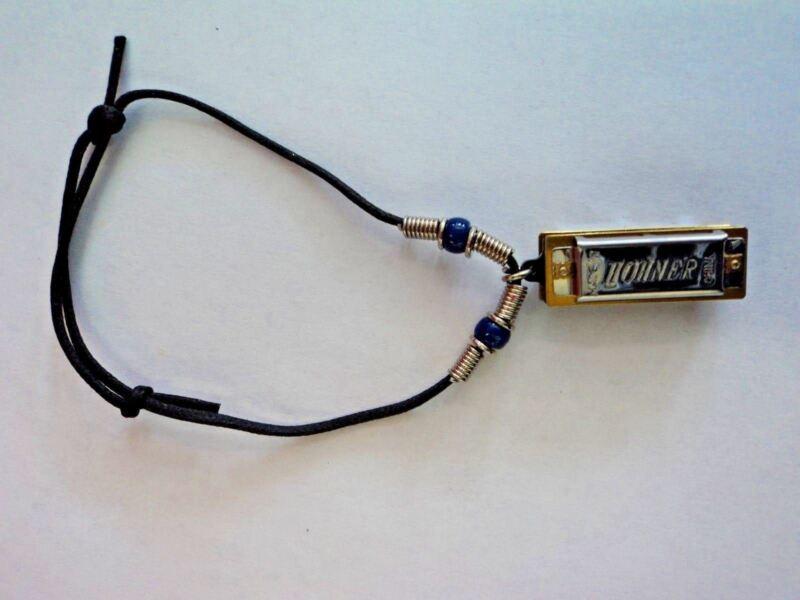 Real Playable Hohner Mini Removable Harmonica Bracelet in Key of C Model 38-BR