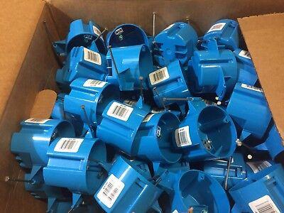 Carlon 3-1/2 in. H Round 1 Gang Electrical Box Blue PVC LOT OF 30
