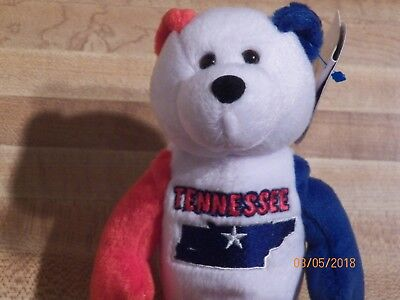 Tennessee Quarter Beanie Bear 16th State Collectible Stuffed Coin Bear retired