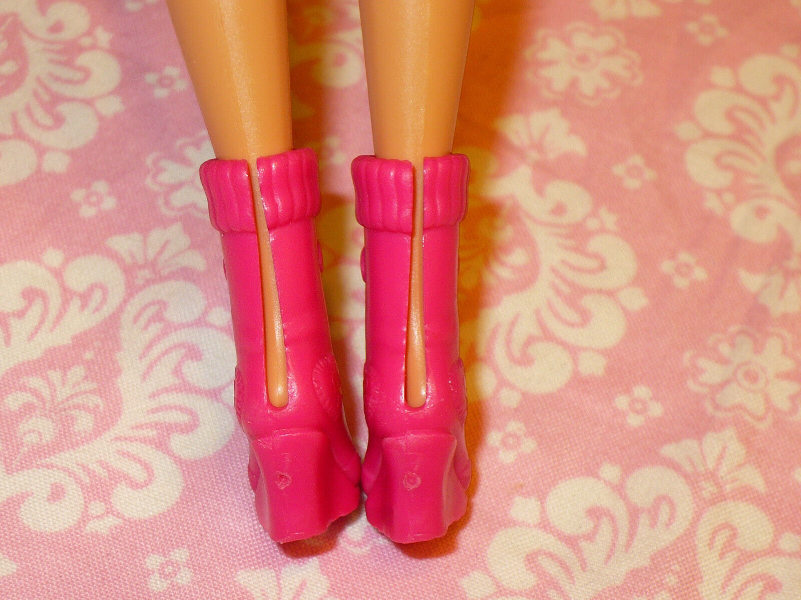 Mattel Barbie Doll Shoes FASHIONISTAS FASHION FEVER PINK WEDGE ANKLE BOOTS - $10.39