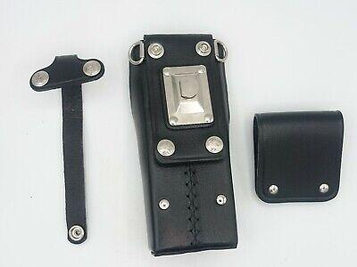 Bee Electronic Leather Case Belt Loop Clip Holster Swivel Motorola Ht1000 Mt2000