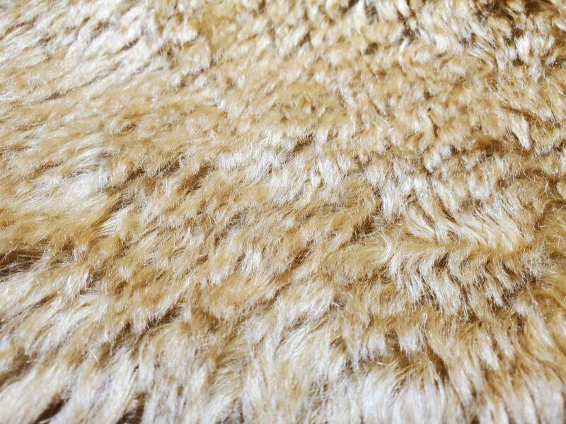 "Edinburgh? Teddy Bear Making MOHAIR Fabric Golden Sparse 12"" X 28"""