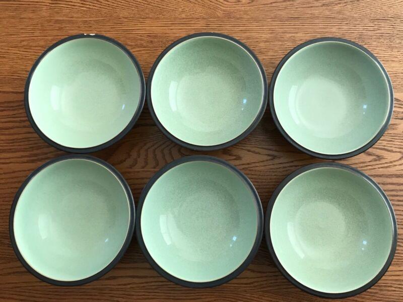 Denby Energy Celadon Cereal / Soup Bowls (Group of 6)