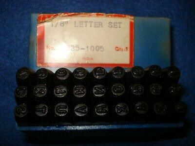 Enco 835-1005 Used 18 Steel Letters Stamps Punch - Qty 27pc Letters A-z And